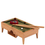 Desktop Pool Table, Chess, Wine Rack. Little League