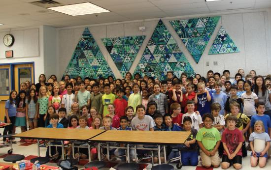 'Sierpinski Triangles' (2014) by Churchill Road fifth graders. (Courtesy of Churchill Road Elementary)
