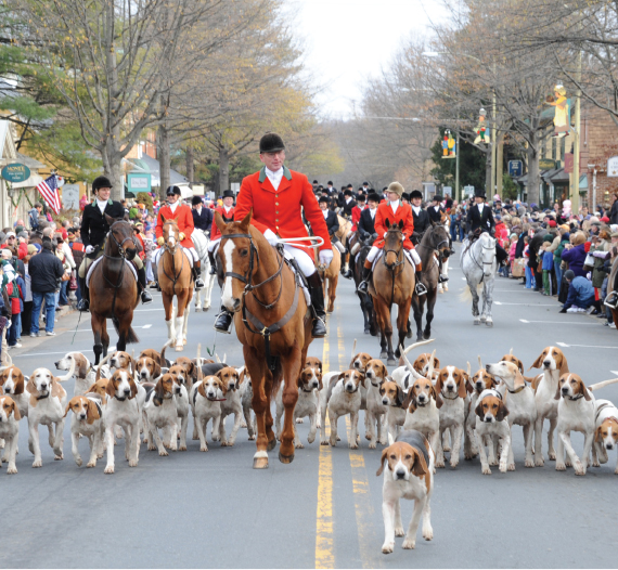 Christmas In Middleburg.Middleburg Hunt On Parade