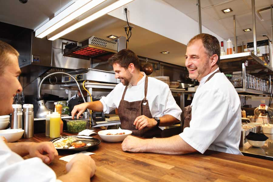 power combo: Jason Maddens and Jonathan Krinn share kitchen and owner duties at clarity. (Photo by Jonathan Timmes)