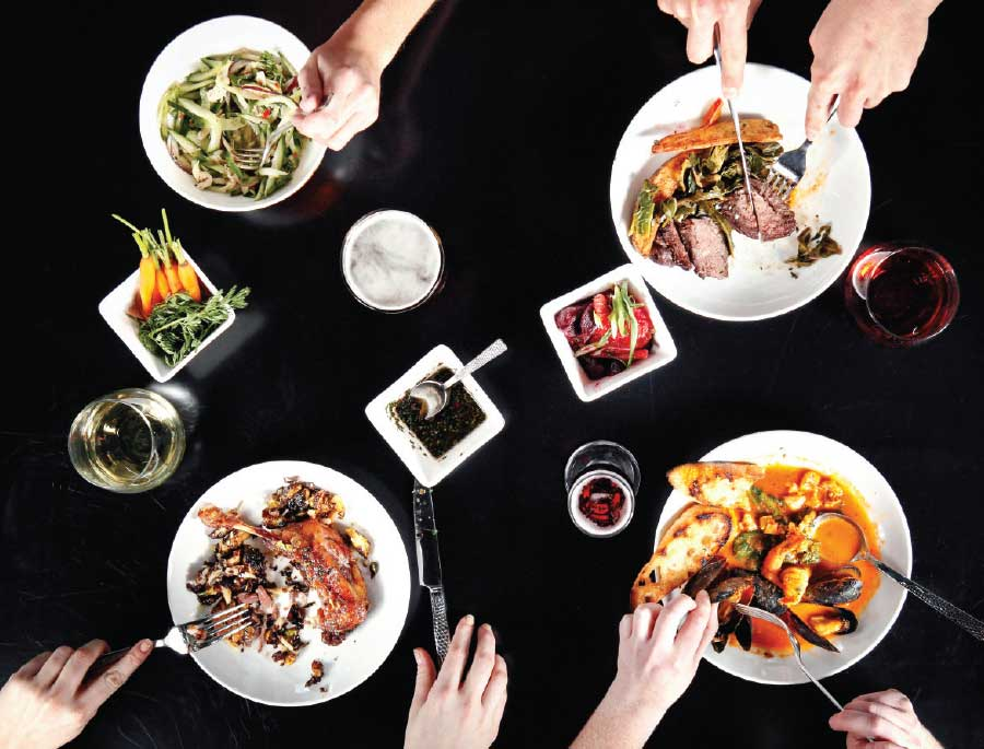 Eclectic, asian-flecked dishes from Water & Wall (Photo by Jonathan Timmes)
