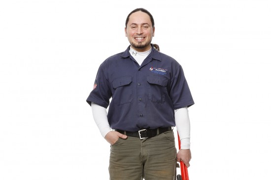 Ricky Salinas of All American Plumbers / Photo by Jonathan Timmes
