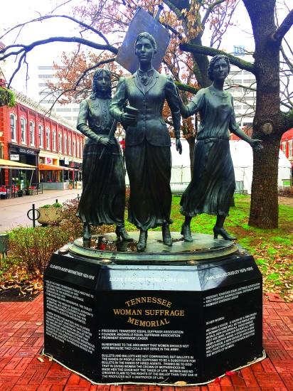 Tennessee Woman Suffrage Memorial / Photo by Eliza Berkon
